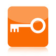Orange key icon