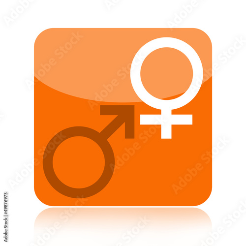 Venus and Mars symbols icon