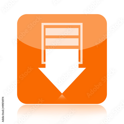 Download icon with downward arrow