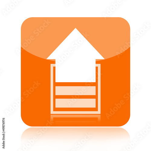 Upload icon with upward arrow
