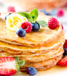 Pancake. Crepes With Berries. Pancakes stack