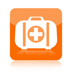 First aid kit icon isolated on white background