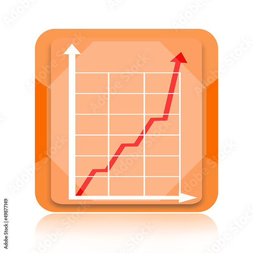 Growth business chart icon