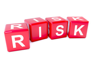 "Red dice spell the word ""Risk"""