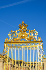 Front gate of the Palace of Versailles, France