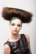 Peculiar Girl - Creative Styling. Fantastic Hairdo. High Fashion