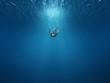 Man falls into the depths - 49879568