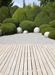 Garden terrace exotic