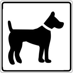 Schild weiß - Hundepension