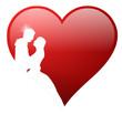 3D Herz Hochzeit Rot Liebe