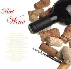 red wine botlle
