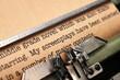 Screenplay and typewriter