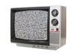 Grungy Little Television with Static Screen
