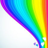 Rainbow Lines Background. Vector illustration for your design.