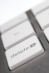 delete key button computer keyboard