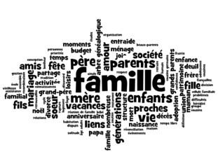 Nuage de Tags FAMILLE (cercle cellule familiale parents enfants)
