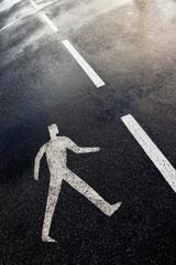 Pedestrian street sign