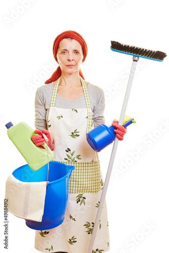 Putzfrau mit gewerbeschein