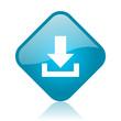 download blue square glossy web icon