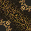 Vintage seamless floral wallpaper with lace pattern. Retro style