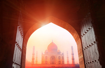 Taj Mahal in the sunlight