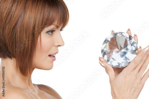 beautiful woman with diamond