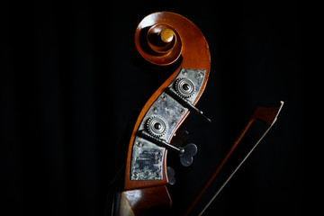 Vintage double bass head