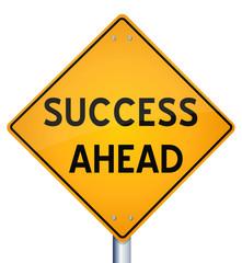 Success Ahead - Road Sign