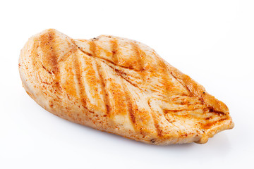 Grilled chicken breast with clipping path