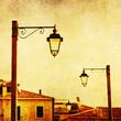 nostalgisches Bild von venezianischen Straßenlaternen