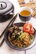 Gebratener Reis mit Fleisch