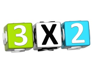 3D Three For Two Button Click Here Block Text