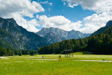 Cycling in Planica Valley