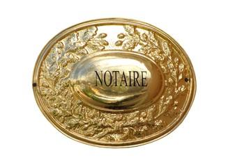 Plaque d'une étude notariale