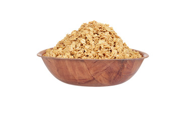 wood bowl of granola
