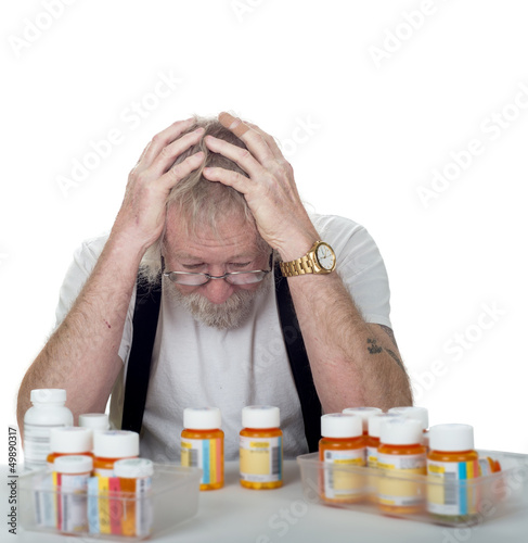 senior with too many prescriptions