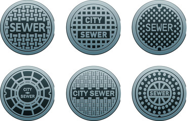 vector manhole covers