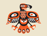totem bird indugenous art  stylization