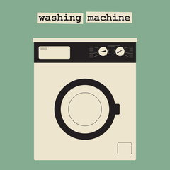 A typical  front-loading washing machine