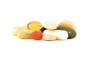 Mix of vitamin supplements