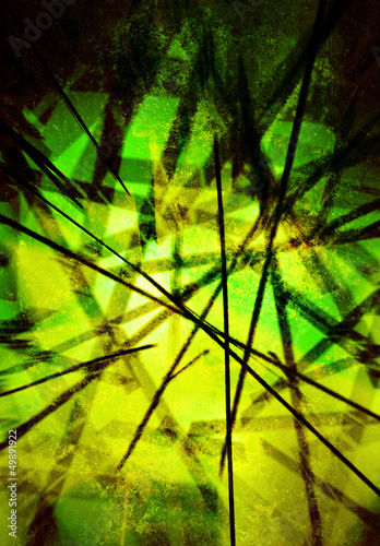 modern art green