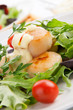 Scallop Salad With Saffron Dressing