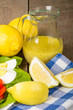 Salad with lemon dressing and egg