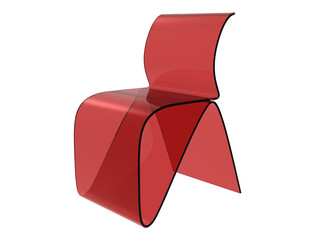 Red Plastic Sheet Chair