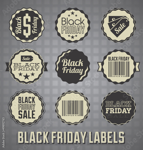 Vector Set: Black Friday Sale Labels and Icons
