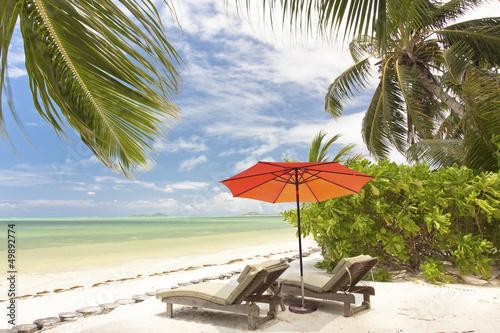 paradise beach of Praslin na Seszelach