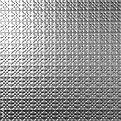 Silver metal tile background 3d illustration