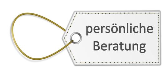 Schild persönliche Beratung