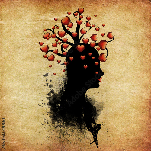 Tree of hearts on head