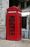 Telephone booth on a street, Oxford, Oxfordshire, England